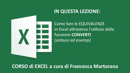Equivalenze in Excel