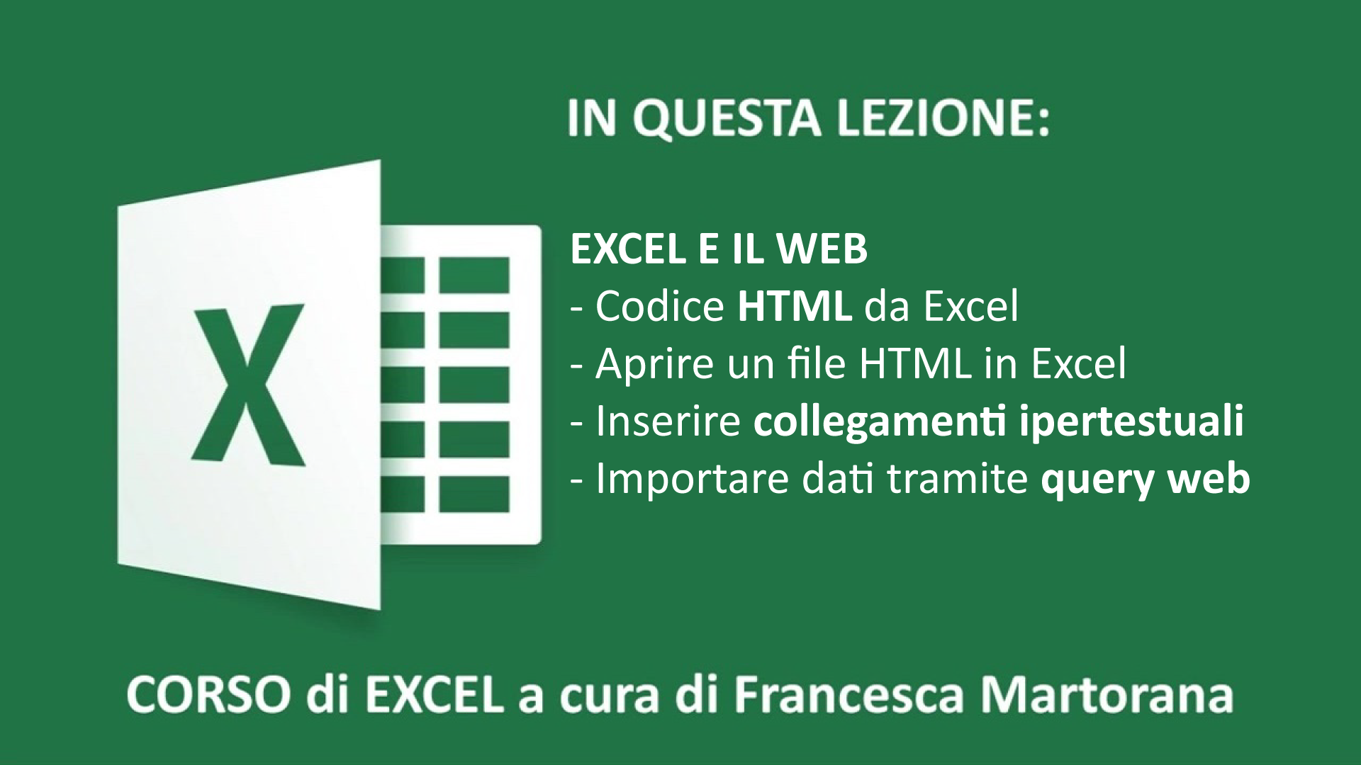 Excel tutorial